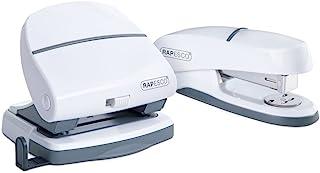 Rapesco 1275 P20 Shimma Stapler and Hole Punch Set - White
