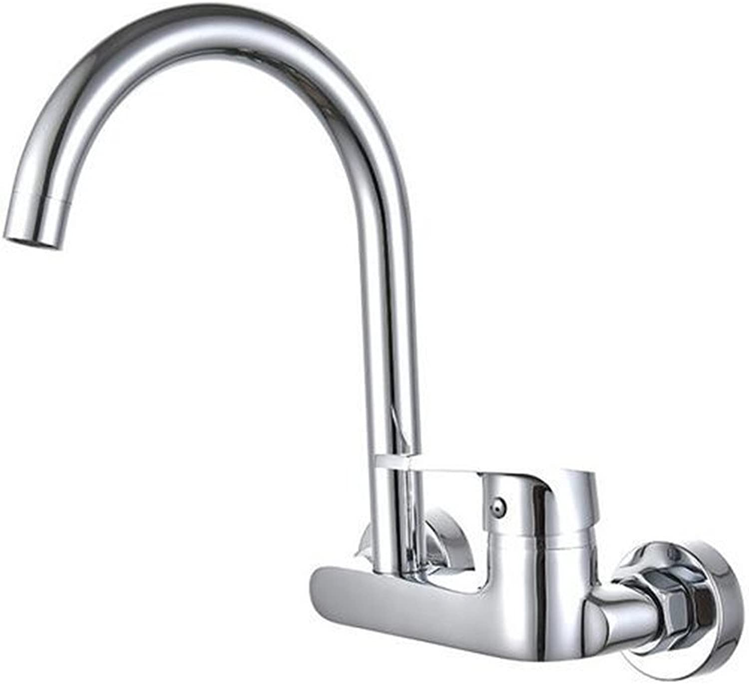 LANGUANGLIN Copper In-Wall Hot And Cold Basin Faucet Hot And Cold Water Wall Outlet Kitchen Faucet Laundry Pool Hot And Cold Faucet