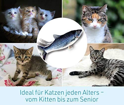 Mediashop Flippity Fish - 2 Stück – elektrisches Katzenspielzeug – Katzenminze - wiederaufladbar mit USB Kabel - Verschiedene Geschwindigkeitsstufen, mit Spielangel | Das Original aus dem TV - 9