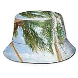 Summer Fisherman Sailor Fiddler Driver Hat,Vista de bonita hamaca con palmeras por The Ocean Sandy Shore Exotic Artsy Print