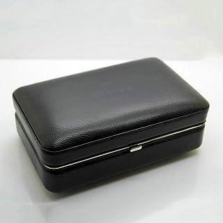 XJJZS 4 cigares cèdre Bois étui à cigares en Cuir Support Portable Fumer Cigarette Accessoires boîte de Rangement Voyage h...