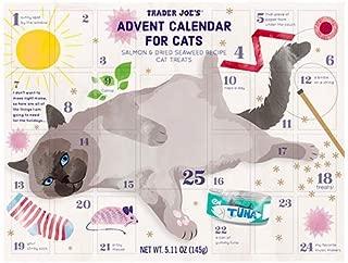 Trader Joe's Advent Calendar for Cats - Salmon and Dried Seaweed Recipe Cat Treats