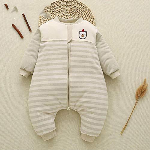 QFYD FDEYL Saco de Dormir de Algodón Unisex para Bebés,Saco de Dormir para recién Nacido, Ropa de algodón para bebés-Verde Natural_M,Manta de Invierno para Bebé Recién Nacido Manta Envolvente
