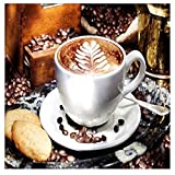 DIY 5D Diamond Painting by Number Kit, Full Drill Coffee Beans Rhinestone Embroidery Cross Stitch Arts Craft for Canvas Wall Decor