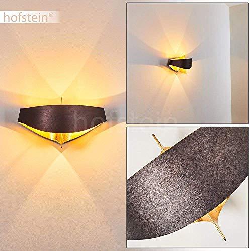 Wandlampe Padua aus Metall in Braun/Gold, moderne Wandleuchte mit Up & Down-Effekt, 2 x G9 max. 28 Watt, Innenwandleuchte mit Lichteffekt, geeignet für LED Leuchtmittel