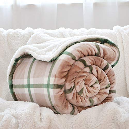 Lowest Price! YUMUO Coral Velvet Blanket, Ultra-Warm Thicken Full-Twin Size All Season Light Weight ...