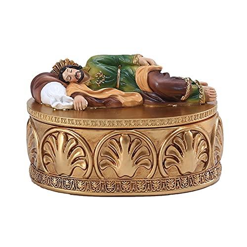 Jesus Ornament Religieuze Figuren Sieraden Doos Nativiteit Figuur Religieuze Hars Katholieke Ambachten Geschenken Voor Religieuze Aanbidding Holiday Decor Woondecoratie