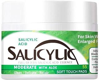 Eeauytr Salicylzuur katoenen blad, voor acne pads, vlekken, mee-eters, milia, huidcontrole, katoenen blad