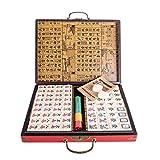 Lim Chinese Riichi Mahjong Set 144 Tiles (Mahjongg, Mah-Jongg, Mah Jongg Set, Majiang)(Size: XXL) -