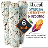 JL Local 6' 3 Pack White Sage Smudge Sticks | 6-inch Large Wanderlust Smudging Wand Incense Stick for Cleansing, Purifying, Healing, Meditation, Yoga, Blessing New Home (3 Pack)