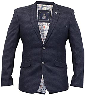 Cavani Mens Blazer Coat Dinner Suit Slim Fit Jacket Tweed Formal Wedding Lined