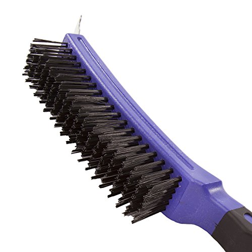 Cotam IWI00043 Brosse à gratter en fil d'acier au carbone 6 rangs Violet