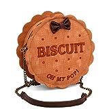 Oh My Pop! Biscuit Bolso Bandolera, 18 cm, Beige