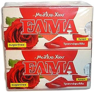 Chios Elma Mastic Gum Red Rose Flavor 20x10 Pieces / 20x14gr - From 100% Fresh Original Xios (Masticha or Mastixa)