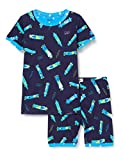 Hatley Organic Cotton Short Sleeve Printed Pyjama Sets Conjuntos de Pijama, Azul (RAD Longboards 400), 3 años para Niños