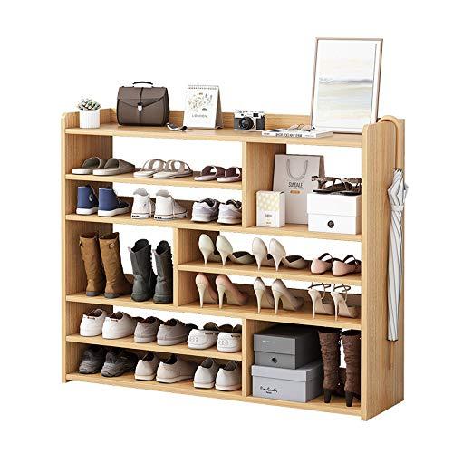 XIALIUXIA Zapatero Madera Organizador, Estante para Muebles De Varias Capas, Caja De Almacenamiento De Zapatos, para Pasillo/Baño/Sala De Estar,A,120CM