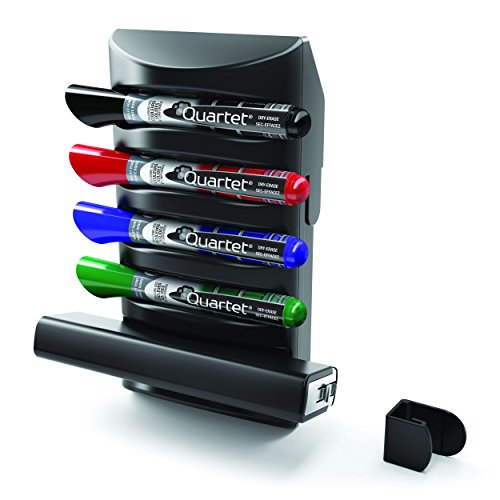 Quartet Prestige 2 Connects Marker Caddy, 4 EnduraGlide Dry-Erase Markers, 1 Eraser (85377)