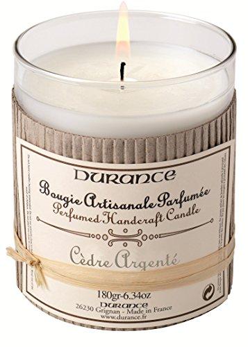 DURANCE Bougie Parfum Cèdre Argenté