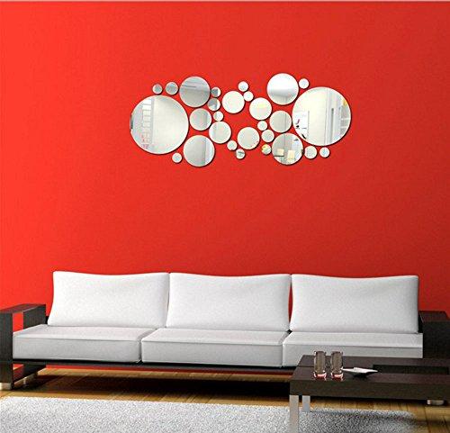 Stonges Rond Cercle Miroir Wall Sticker Amovible Acrylique 3D Miroir Vinyle Art Decal Décoration de La Maison