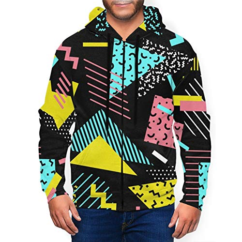 Patterned Triangles 80s Hoodie