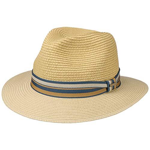 Stetson Sombrero Fedora Safari Traveller de Paja Toyo Natural - S