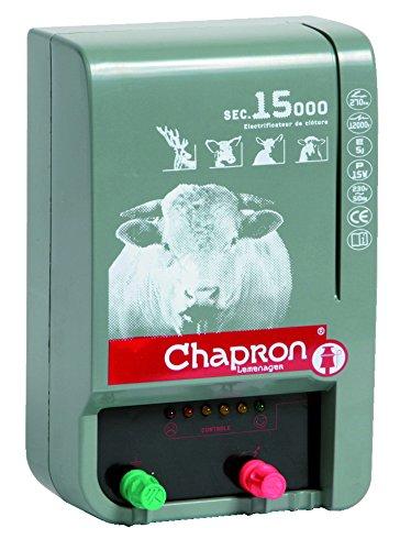 Chapron Weidezaungerät Chapron SEC 15000, 230 Volt Netzgerät - extrem schlagstarkes Elektrozaungerät für Bullen, Rinder, Elektrozaun, Weidezaun