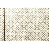 Clairefontaine Kraft - Papel de regalo, 5 x 0,35 m, diseño de flores blancas