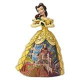 Disney Traditions, Figura de Bella y Bestia bailando con palacio, para coleccionar, Enesco