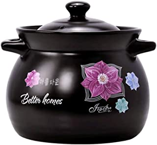 Cast Iron Pot Casserole - Stainless Steel Dishwasher Safe Induction Compatible Oven Cookware Selected Natural Clay Materia