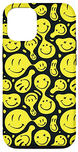 iPhone 12/12 Pro Trippy Psychedelic Smiley Face Emoji Phone Case