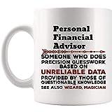 Regalo divertido de la taza del asesor financiero personal - tazas de las tazas de la taza de café