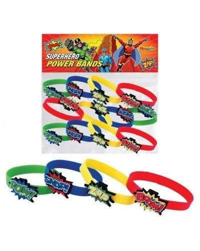 12 X SUPER HERO BRACELETS