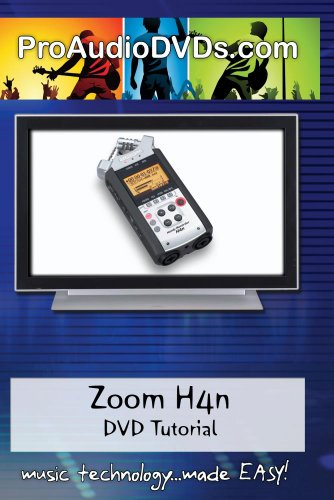 Zoom H4n Handy Portable Digital Recorder DVD Video Training Manual Tutorial
