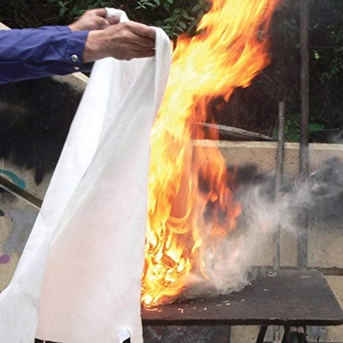Tonyko Fiberglass Fire Blanket for Emergency Surival, Flame Retardant Protection and Heat Insulation with Various Sizes (70.9×70.9 inches)
