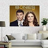 QAQTAT Kości przestępczość sądka serial telewizyjny płótno plakat HD nadruk obrazy sztuka ścienna obraz bar mural dekoracja domu (bez ramy) 50 * 75 cm