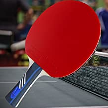 Gambler Custom Professional Table Tennis Paddle with AC Hero Mega Weave Arylate Carbon Blade and Zero Rubber plus Case