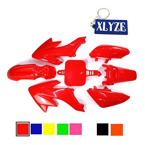 XLYZE Red carenado kit de defensa de plástico para Piranha CRF50 XR50 50cc 70cc 90cc 110cc 125cc 140cc 150cc 160cc suciedad Pit Bike SDG SSR
