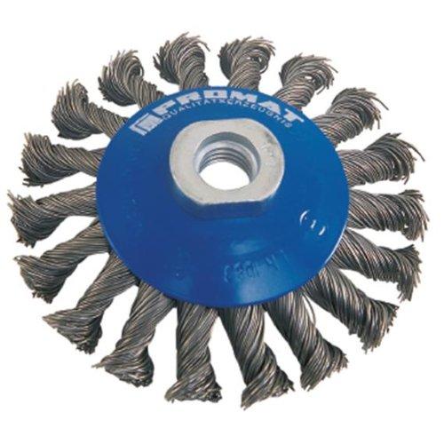 Kayser 841150 Brosse conique, Ø mm : 100 épaisseur du fil : 0,35 mm filetage : M14