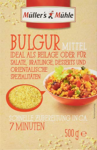 Müllers Mühle Bulgur Mittel , 4er Pack (4 x 500 g)