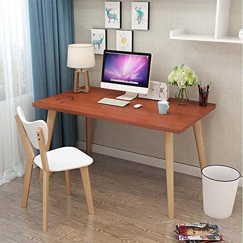 Oanzryybz di buona qualità Tabelle Writing Desk Computer, Studio Scrivania, Notebook PC Workstation for Home Office Multi-Funzione (Color : Teak Color, Size : 140 * 60 * 75cm)