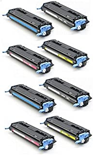 Global Cartridges Remanufactured Toner Cartridge Set Replacement for HP 124A/HP 2600(2XBlack, 2XCyan, 2XMagenta, 2XYellow, 2 Sets)