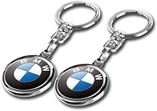 Bailunte Compatible for BMW Keychains 3D Car Logo Key Chain Key Ring Accessories Gift Present for Men and Woman (2pcs)
