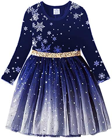 VIKITA Toddler Girls Dress Winter Long Sleeve Party Tutu Casual Dresses LH4586 5T product image