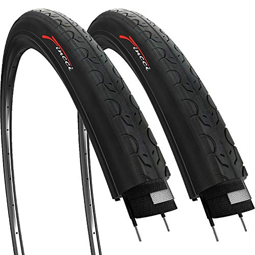 petit Fincci Paire 26x 1.25 pouces 32-559 Smooth MTB Road Mountain Bike Tire (Ensemble de 2)