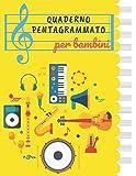 QUADERNO PENTAGRAMMATO per bambini: Ottimo quaderno pentagrammato