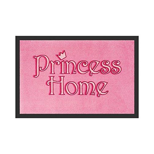Princess Home Deurmat met spreuk, voor dames, met tekst 'Princess Home'
