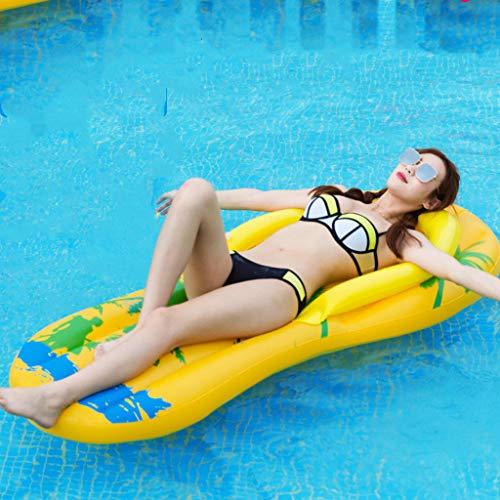 Zwemmen Essentiële Drijvende Rij, Unieke Zwemring Zwembad Opblaasbare Bank Waterpantoffels Ligstoelen, Zomer Hangmatten Buiten Vlot Voor Volwassenen En Kinderen - 160 X 60 CM Zomervakantie