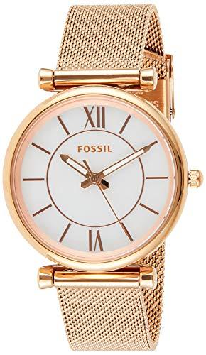 Fossil Reloj Analógico para Mujer de Cuarzo con Correa en Acero Inoxidable ES4918