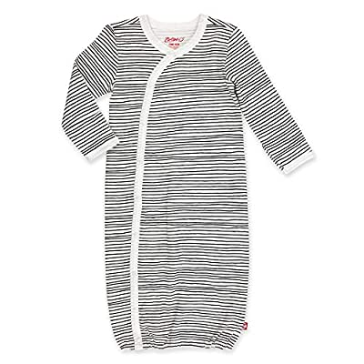 Zutano Unisex Kimono Gown, Pencil Stripe, One Size (0-6 Months)