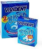 Vivident Fresh Blast Gomme da Masticare Senza Zucchero, Chewing Gum Ripieno Gusto Menta, Confezione da 2 Astucci